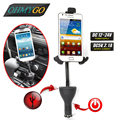 Universal Dual USB Charger Car Phone Charger Holder Mount Stand For Lenovo Iphone 6 5 5s Samsung Galaxy Note  HTC LG Sony Xperia