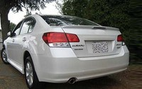 For Subaru Legacy Saloon ABS material Rear Trunk Lip Spoiler Wing with LED light 2010 2014