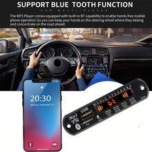 Автомобильный Bluetooth FM Радио Беспроводной Mp3 плеер Handsfree с микрофоном TF USB 3,5 мм AUX 5 в 12 В автомобильный аудио модификация комплект для динамиков