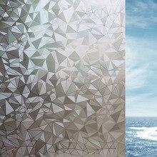 Electrostatic Glass film 3D Geometric diamond pattern opaque Bathroom balcony sunscreen insulation Window decorative