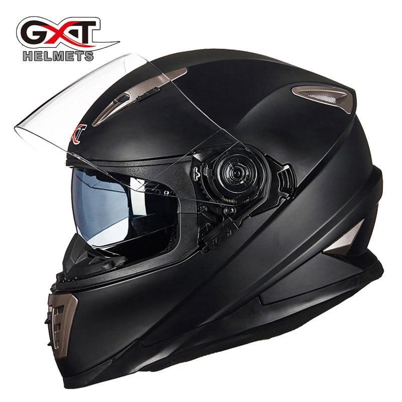 Зимой Vcoros мужчины мотоцикл шлем двойной щит полного лица гонки мотоциклов шлем с внутренней солнцезащитный козырек щит женщин мотоциклетных шлемов