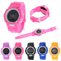 Louise Free Shipping Kids Student Time Clock Electronic Digital Watch LCD Display Teenager Wristwatch Gifts for Your Girls Boys