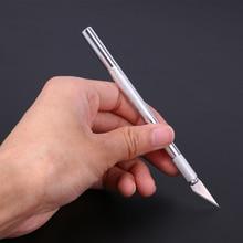 12pcs/set Metal Knife Blades Pen Wood Carving Tools Fruit Food Craft Sculpture Engraving Knife Scalpel DIY Cutting Tool