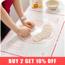 BAKINGCHEF Silicone Baking Mat Pizza Dough Maker Pastry Kitchen Gadgets Cooking Tools Utensils Bakeware Kneading Accessories