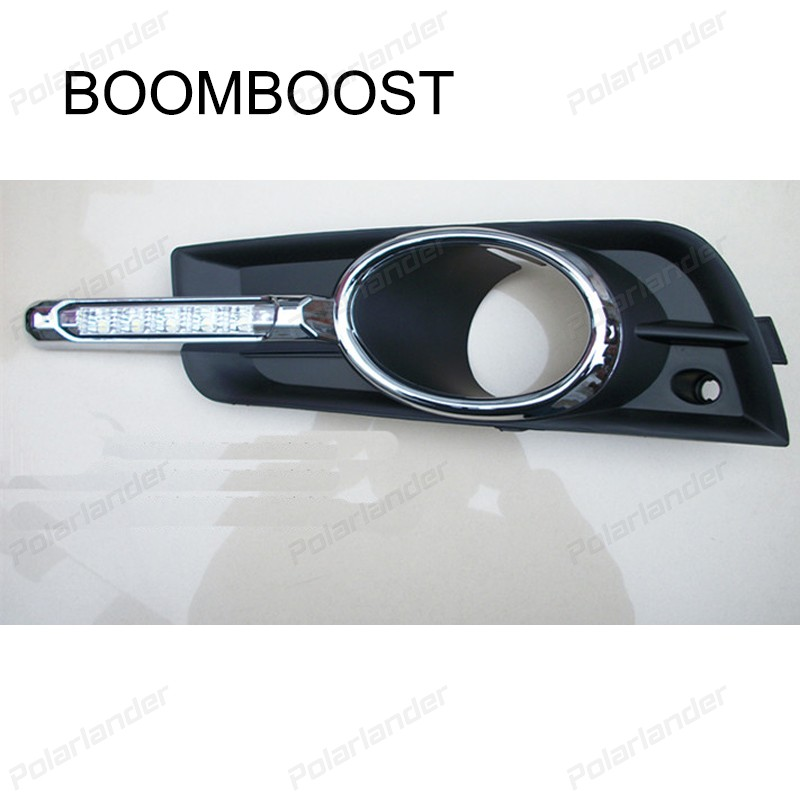 BOOMBOOST car accessory For C/hevrolet C/ruze Having Foglight  2009-2013 daytime running lights car styling auto parts 2 pcs for c hevrolet c ruze light guide 2009 2013 daytime running lights car styling
