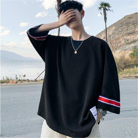 summer Men loose T-shirt Harajuku 2019 Men Hip Hop Casual Tshirts Male Korean Oversize Vintage Summer Tees Plus Size M-3XL Islamabad