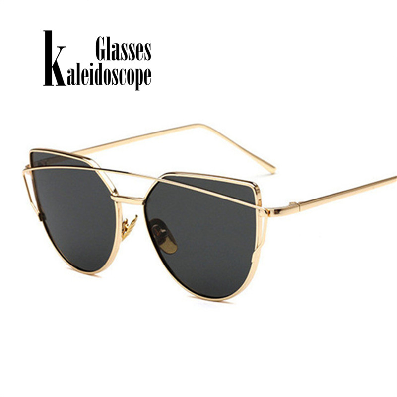 Cat Eye Sunglasses for Women Retro Metal Frame Spectacles Brand Designer Sunglass Vintage Ladies Sun Glasses Women's Glasses stylish cut out street fashion two color match cat eye mirrored sunglasses for women