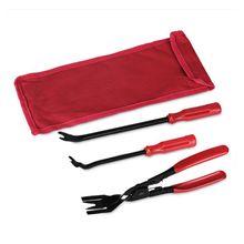 Pince de fixation automatique pour garniture de porte de voiture, 3 pièces, outil dextraction de Clip de retenue, outil de barre de levier avec sac en Nylon