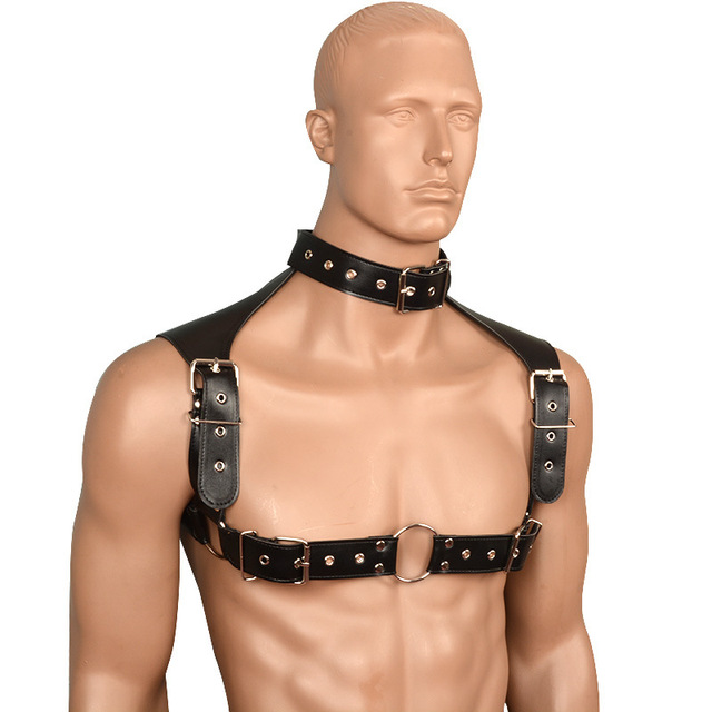 Male Sexy Lingerie Adjustable Body Harness Belt Straps Clubwear PU Leather Bondage  Harness Men Sex Fetish