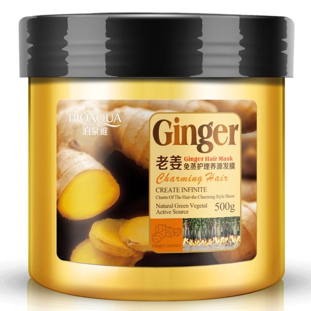 A partir de gengibre cozido no vapor cuidados qualidades de cabelo nutrição 500 ml