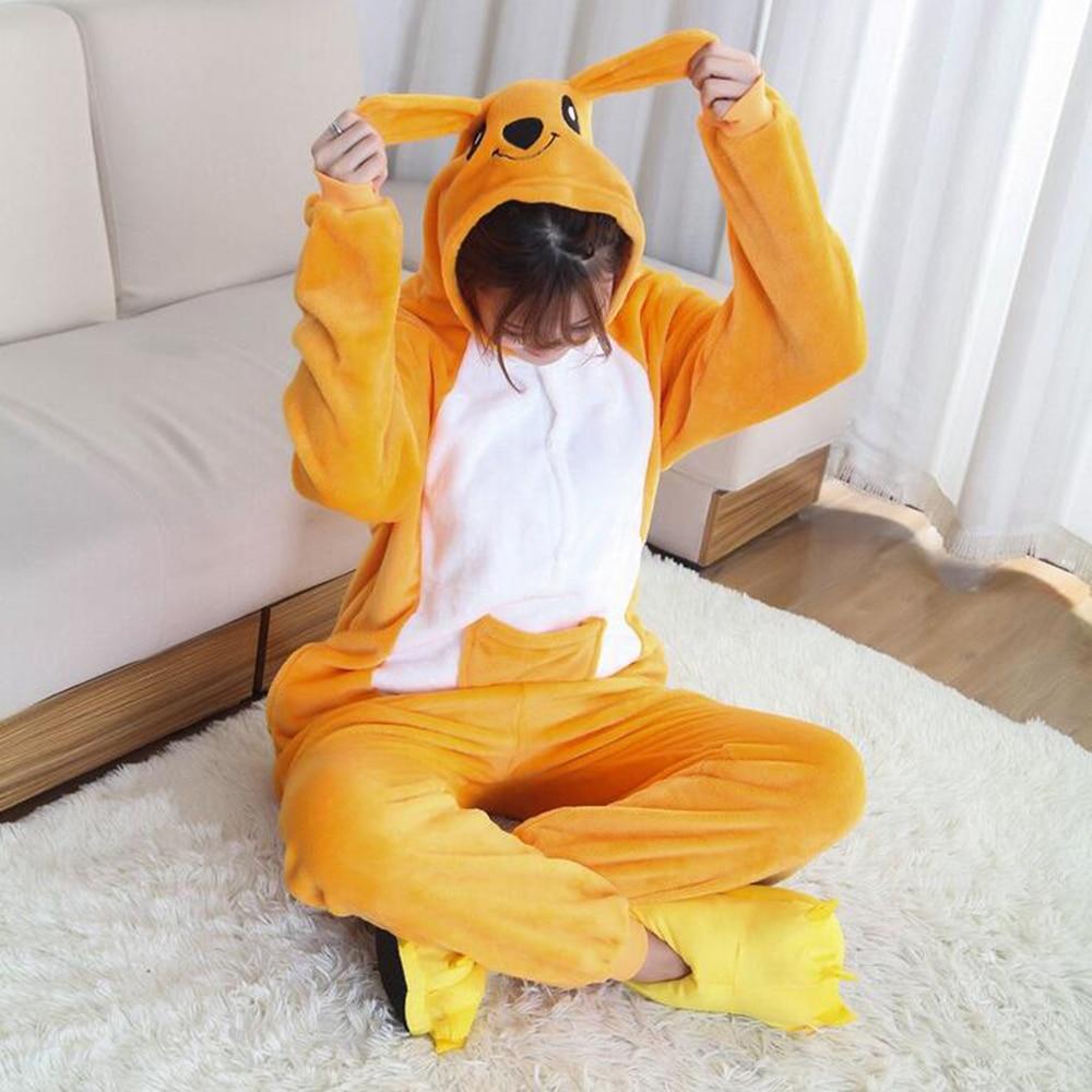 Animal Kigurumi Onesie Flannel Adult Teenagers Women Pijama Pajamas Funny Warm Soft Sleepwear Overall Women Onepiece Jumpsuit