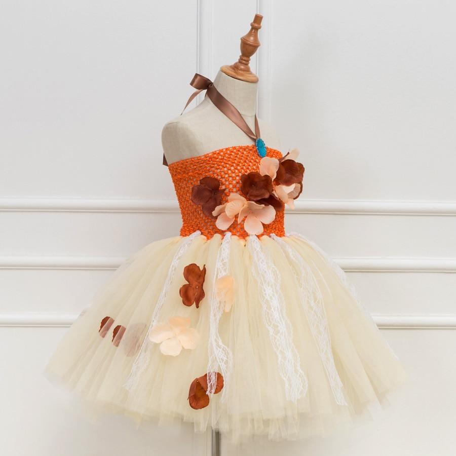 AmzBarley Filles Moana Deguisement Costume Robe de Princesse Moana Soir/ée F/ête Cosplay Enfants Haut Jupe Ensemble Hawa/ïen Va/ïana Fleur Collier