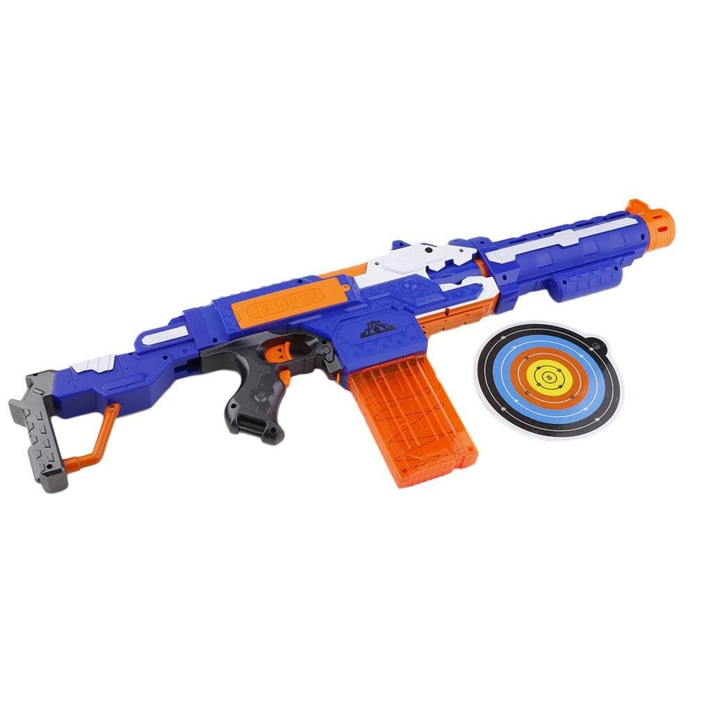 Kids Electric Soft Bullet Darts For Boy Gift Foam Weapons Pistol Sniper Rifle 20 Bullet 1 Target Shoot Gun Toys