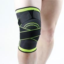 1PCS térdpárna 3D nyomásálló Fitness futás Kerékpározás Térdetámasz Braces Elasztikus Nylon Sport Tömörítő Pad Sleeve Kosárlabda
