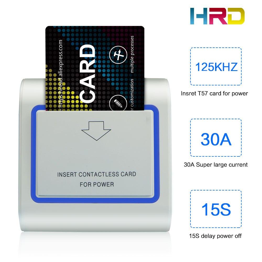 HiRead 125 KHz Insérer Carte RFID Mur D'économie D'énergie Hotle Interrupteur à Clé Avec T5577 30A 220 V électronique induction commutateur