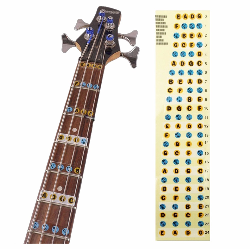 Guitar Chord Sticker Figerbord Sticker Guitar Note For Learner Folk