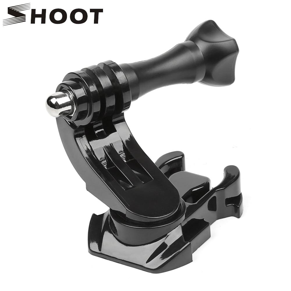 SHOOT 360 Degree Rotate J-Hook Buckle Base Vertical Surface Mount Adapter For GoPro Hero 8 7 5 Xiaomi Yi Sjcam Sj4000 Accessory