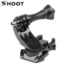 SHOOT 360 Degree Rotate J Hook Buckle Base Vertical Surface Mount Adapter for GoPro Hero 9 8 7 Xiaomi Yi Sjcam Sj4000 Accessory