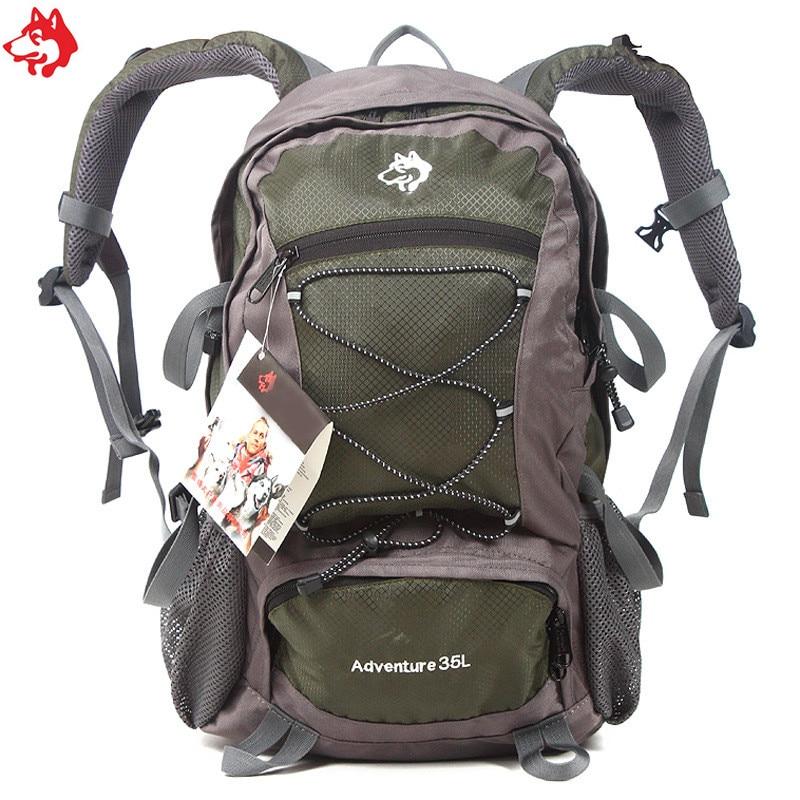 35L Cheap Army green/Green/Orange/Red/Blue Hiking Camping Travel Bag Waterproof  mountaineering Rucksack bag Backpack