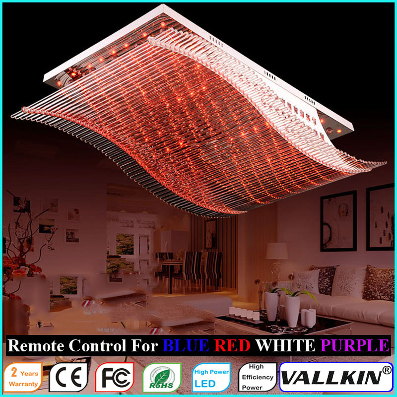 Modern Dining Room Crystal Ceiling Lamps LED Pendant Lamp Fxutres with Remote Control VALLKIN a1 master bedroom living room lamp crystal pendant lights dining room lamp european style dual use fashion pendant lamps