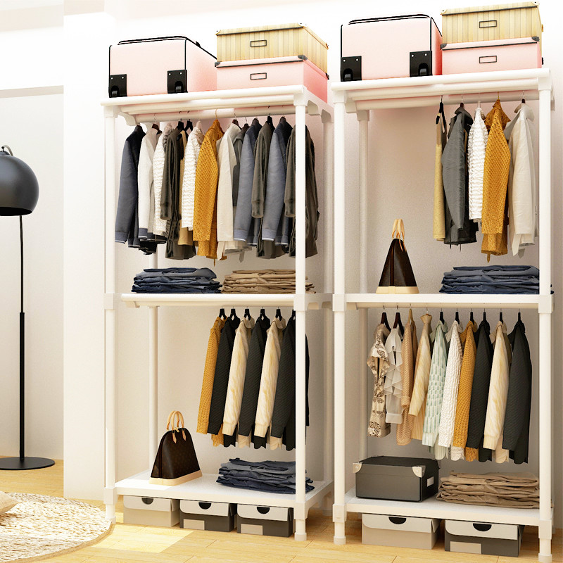 Multifunctional Drying Racks Floor Clothes Hanger Stand Bedroom Wardrobe Closet Folding Curtain Coat Rack for Home Furniture