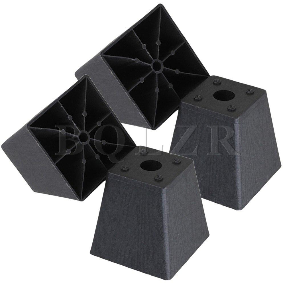 4x Trapezoid Black Plastic Furniture Legs for Sofa 97 x 98 x 65mm BQLZR 2pieces diy bqlzr 9 1cmx10 7x4 9cm black plastic left