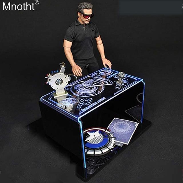 Mnotht Toy Box 1 6 Iron Man Debug Story Scene Workbench Exhibition Luminescent Table