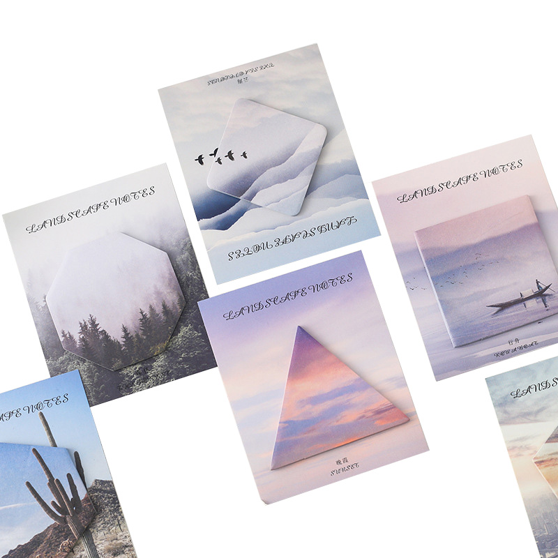 1 PCS Hot Sale Creative Scenery Tour Series Mini Memo Pad N Times Sticky Notes School Bookmark Label Stationery Supplies