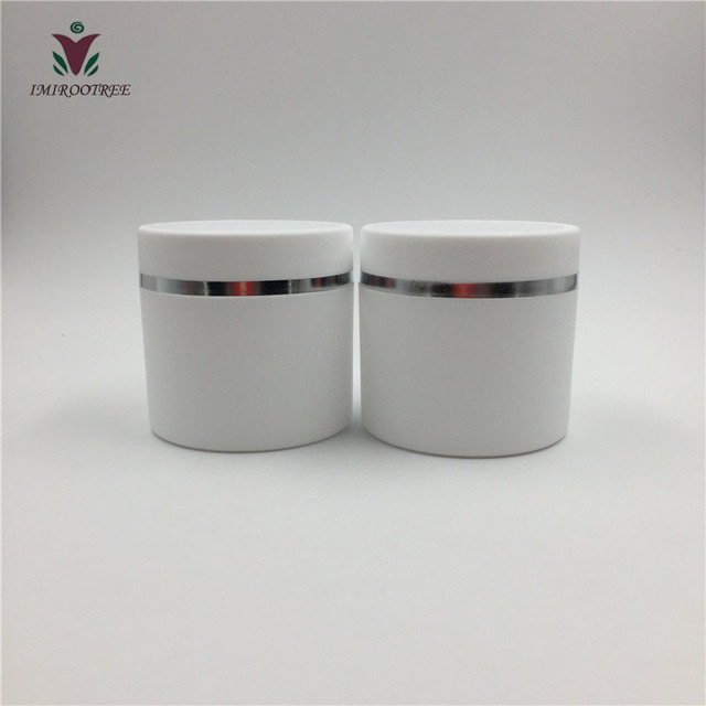 Free Shipping 30pcslot 30g50g Double Wall White Round Cream Jars