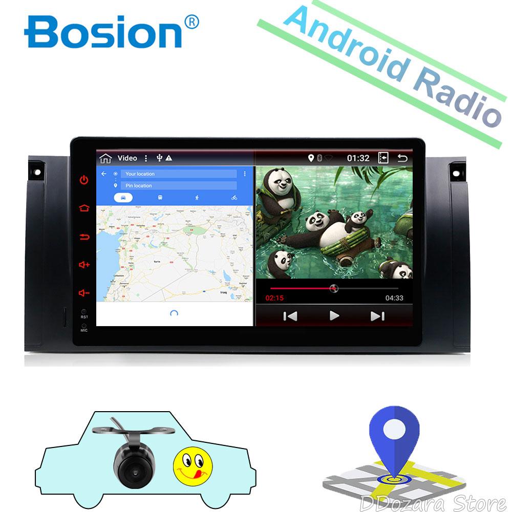 AutoRadio 1 Din Android 8.0 AutoRadio bluetooth pour BMW E39 GPS Navigation RDS BT Wifi 4G TV DAB +