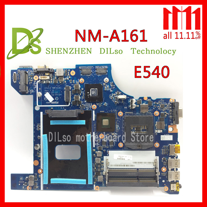 KEFU NM-A161 For Lenovo AILE2 NM-A161 E540 laptop motherboard for Lenovo ThinkPad Edge E540 mainboard rev1.0 Test nokotion motherboard for lenovo thinkpad edge e540 fru 04x4781 mother boards aile2 nm a161 hm87 gma hd5000 ddr3 laptop mainboard