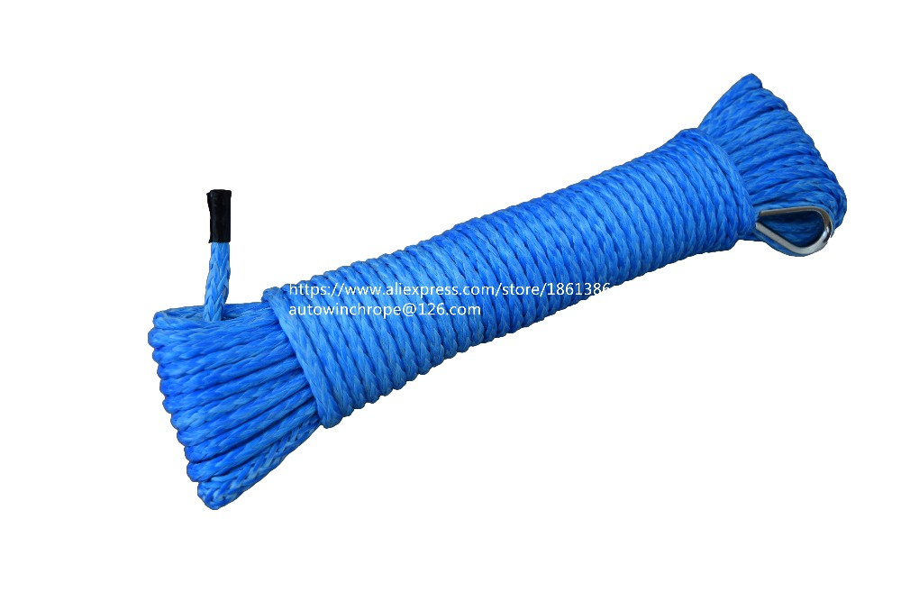 Blue 5mm*15m ATV Winch Line, Synthetic Winch Cable,ATV Winch Rope,Off Road Rope,Spectra Winch Rope