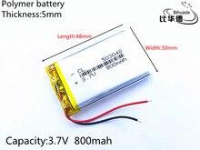 1pcs/lot Liter energy battery 3.7V 800mAh 503048 PLIB polymer lithium ion / Li-ion battery for dvr GPS mp4 mp3