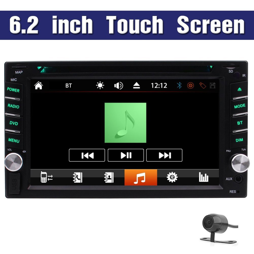 Vehicle Car DVD Player 2 din Car Stereo Receiver Automotive Radio 1080p HD Video Headunit with Bluetooth rds+Free Back Camera pvt 898 5g 2 4g car wifi display dongle receiver airplay mirroring miracast dlna airsharing full hd 1080p hdmi tv sticks 3251