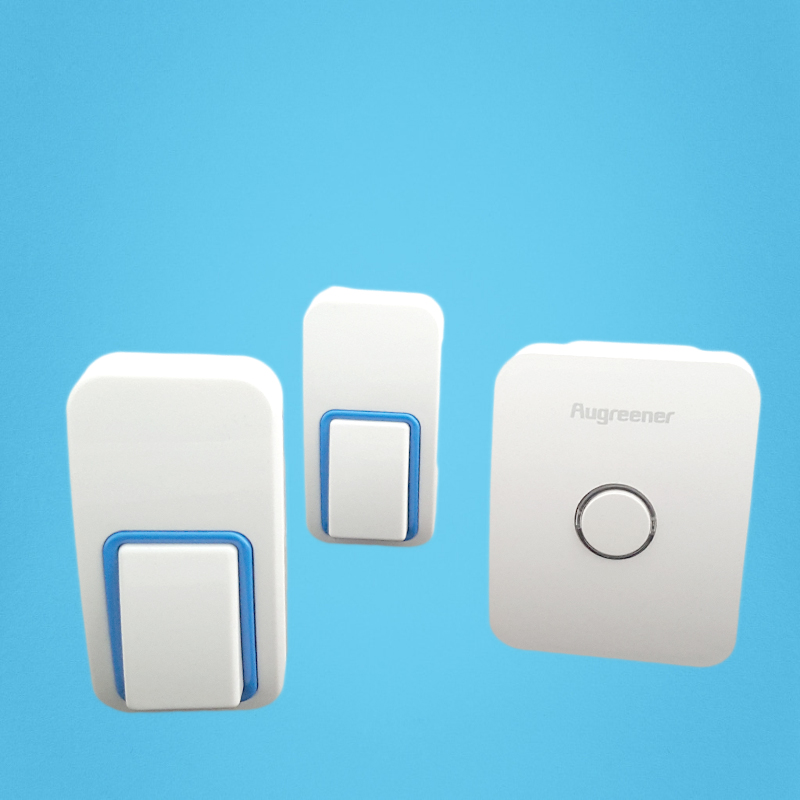 AC110V-240V self-powered wireless doorbell with waterproof push button.2 receivers+1 push button that can reach 220m range. 2 receivers 60 buzzers wireless restaurant buzzer caller table call calling button waiter pager system
