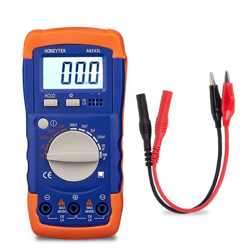 LC Meter Inductance Capacitance Tester Set Of Probes Feelers For Tester 200pF-20mF Capacitors 200μH-200H Inductances Data HOLD