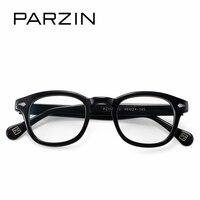 PARZIN High Quality Fashion Square Myopia Frames With Clear Lenses Brand Design Eyewear Prescription Frames Accessories