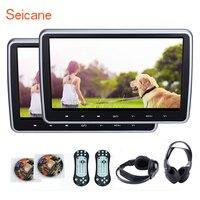 Seicane 10,1 дюймов высокой четкости подголовник MP5 плеер с HD 1024*600 многоязычные ИК передатчик FM игры Функция SD USB