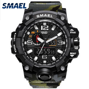 Military Watch Digital SMAEL Brand Watch S Shock Men's Wristwatch Sport LED Watch Dive 1545B 50m Wateproof Fitness Sport Watches(China)