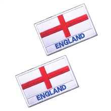 5pcs/lot England 8*5cm embroidery flag patch patches for red cross/patches on clothing/iron