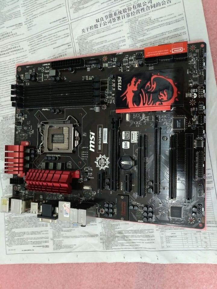 original motherboard MSI B85-G43 GAMING LGA 1150 DDR3 boards 32GB USB2.0 USB3.0 I3 I5 I7 B85 Desktop Motherboard Free shipping