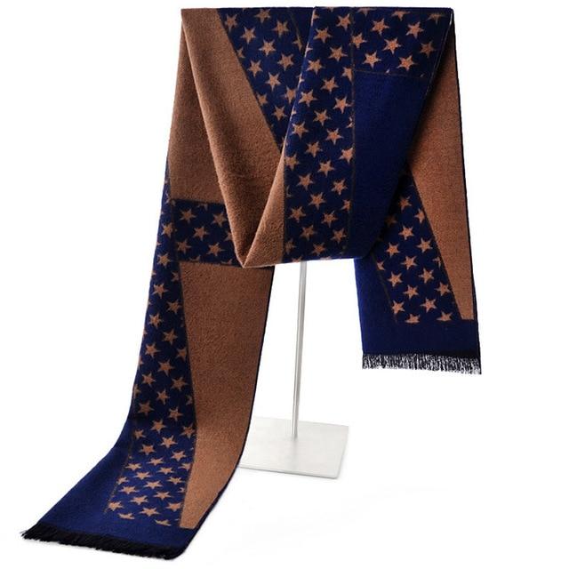 5a9e526acb07 Зимние шарфы для мужчин длинные модные теплые толстые шерстяные мужские  шерсть ...