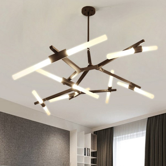 6/8/10/12  Modern Dual Tube Branch Arts Pendant Lights Italian Design Personality Living Room Restaurant Lamps fixtures