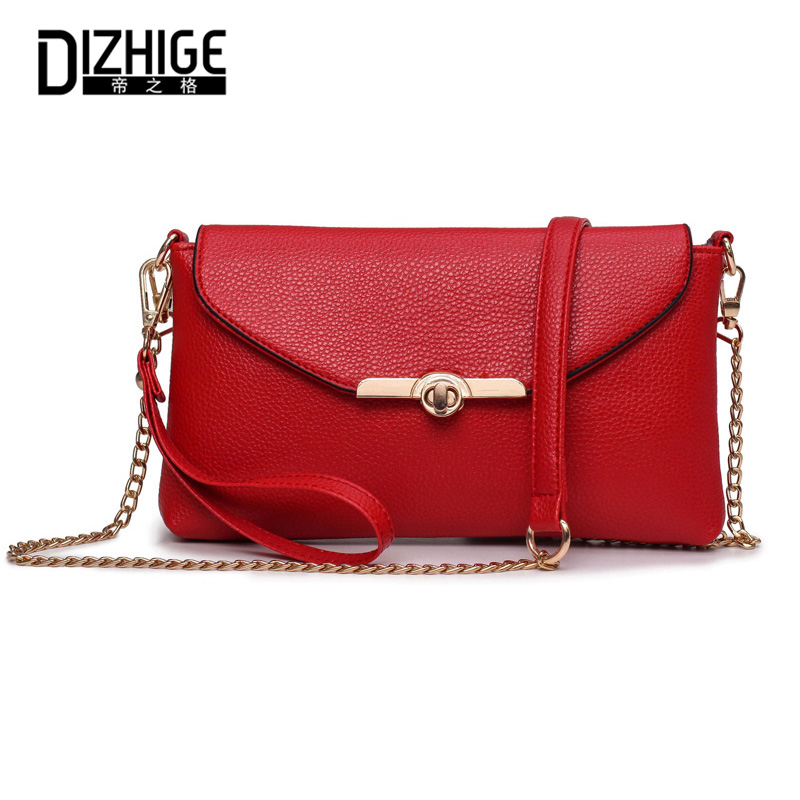 New Brand Envelope Crossbody Bags For Women Chains Woman Messenger Bags Elegant High Quality Red Crossbody