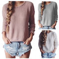 Women Ladies Clothing Sweaters Casual Long Sleeve Knitted Pullover Loose Sweater Jumper Tops Knitwear