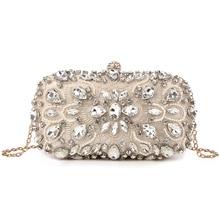 Evening Bags Diamond Rhinestone Pearls Beaded Day Clutch Women s Purse  Handbags Wallets Evening Wedding Bag( 0964dc095ac0