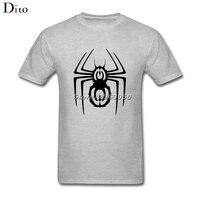 Örümcek Sembolü T Gömlek erkek Dijital Doğrudan Baskı Kısa Kollu Pamuk Özel XXXL Takım Tee Gömlek