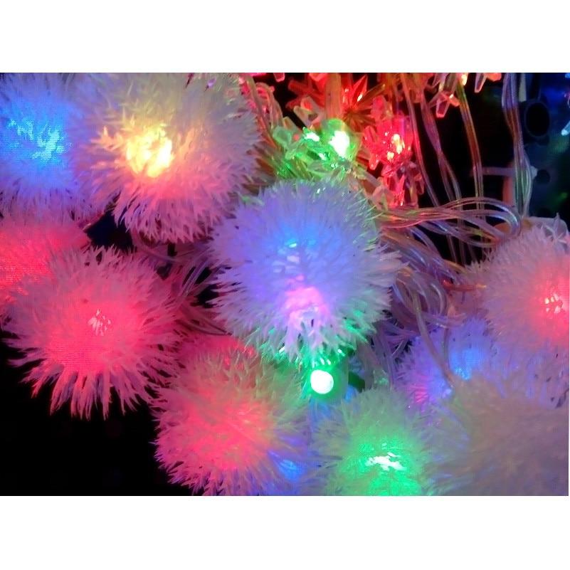 4M led string light Waterproof EU plug AC110V 220V fairy lights for Xmas/New Year 20leds ball garland outdoor lighting