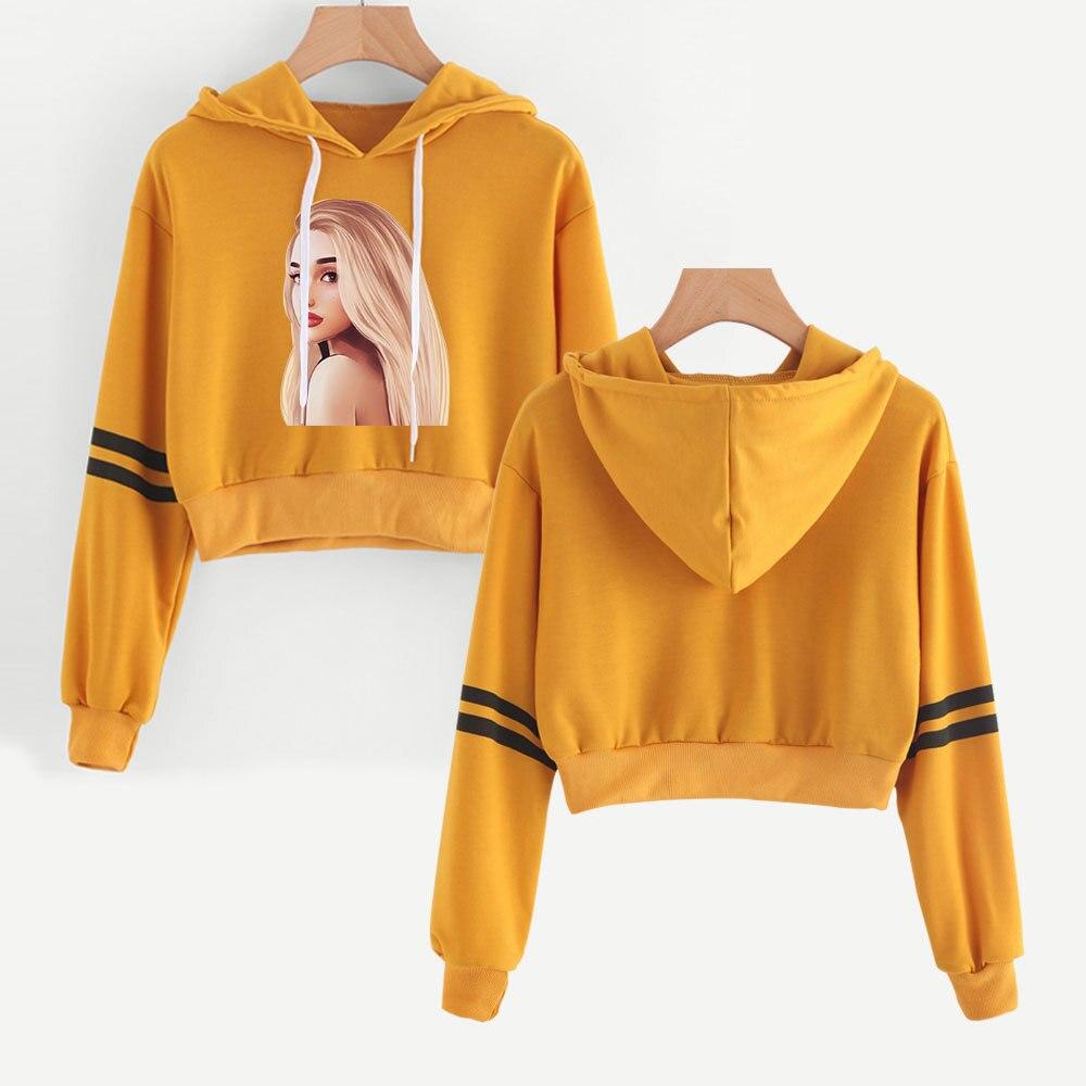 by LuckyGirlsShop Ariana Grande  Hoodie ARI-CHAN Cropped Hoodie Women/'s Cropped hoodie Ariana Grande Bad Idea top