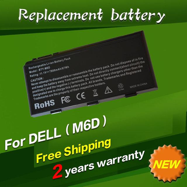 Bty-m6d e6603 jigu 7800 mah batería del ordenador portátil para msi gt60 gt660 gt663 gt663r gt660r gt670 series gt680dx gt680 gt680r gt680dxr